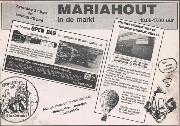 Krantenartikel open dag en markt